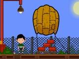 Boy Escape with Parachute