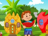 Boy Escape from Fruit House