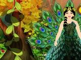 Peacock Fantasy Forest Escape