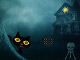 Scary Black Cat Forest Escape