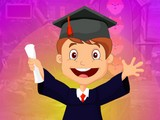 Happy Graduated Boy Escape