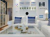 Light Blue Living Room Escape