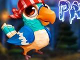 Cute Blue Parrot Escape