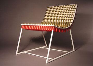 Кресло из патронов