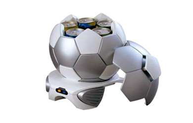 Soccer Ball-Shaped Beer Cooler
