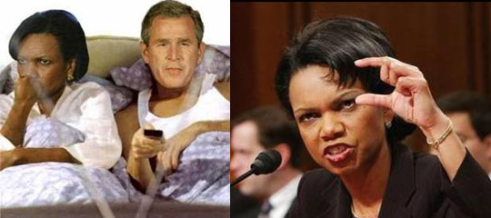 Джордж Буш и Кандализа Райс : История любви