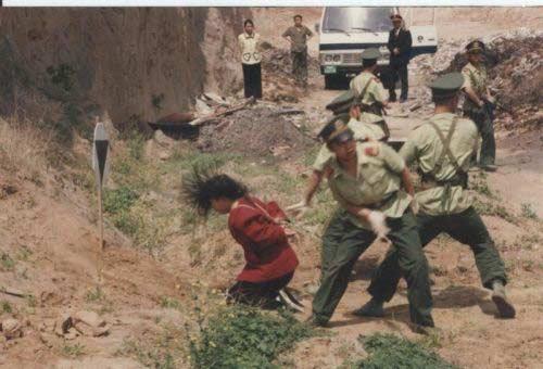 Расстрелы в Китае : Кровавые сцены