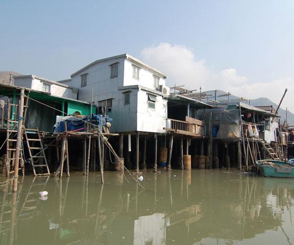 Прибрежные лачуги Тайланда