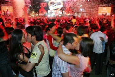 Мировой рекорд по поцелуям
