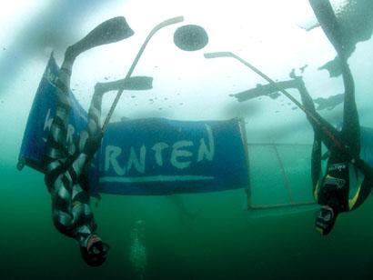 Подводный хоккей на льду