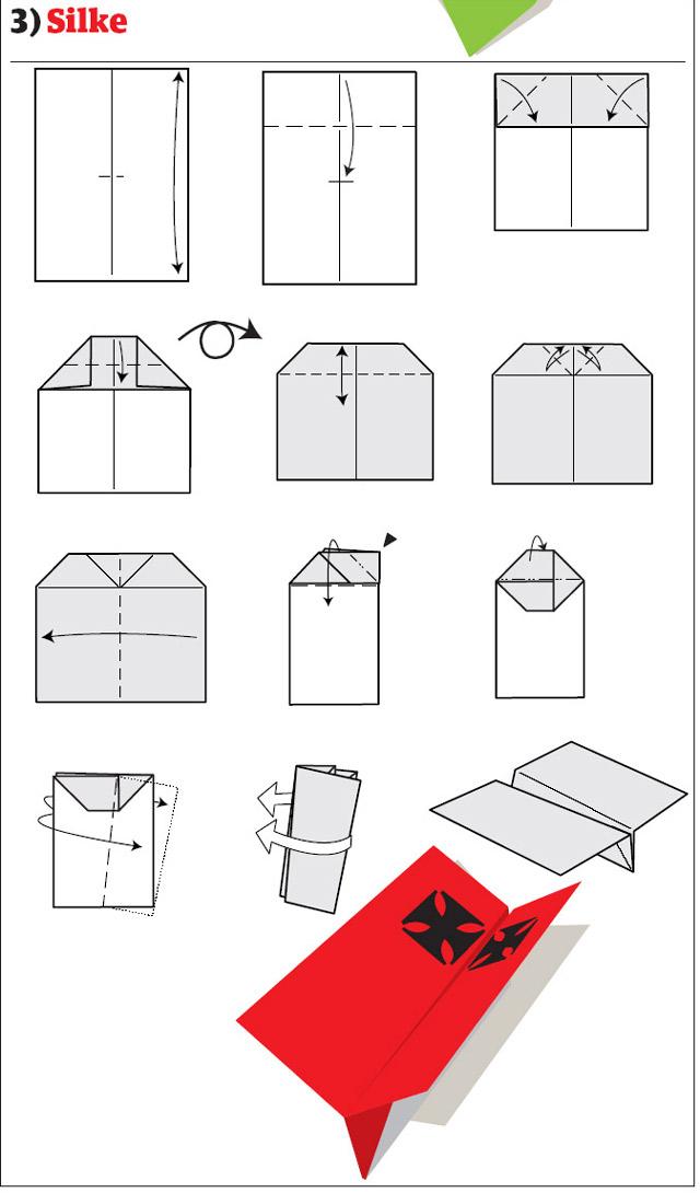 Как сделать бумажный самолётик картинки