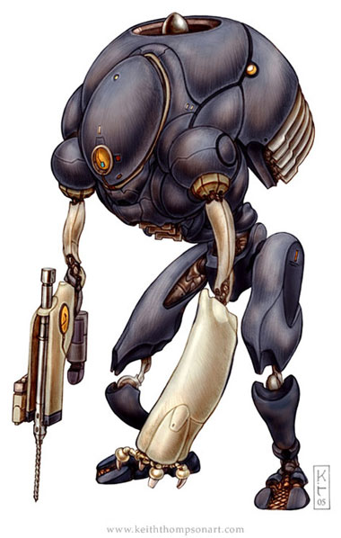 Монстры и роботы Кейта Томсона