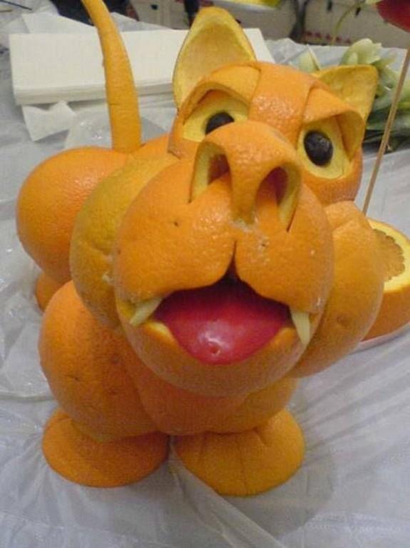 Поделки из апельсинов и яблок