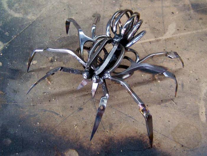 Паук из металла своими руками фото