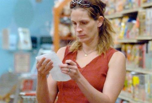 Джулия Робертс в магазине
