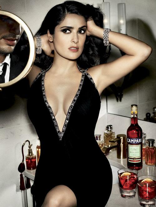Salma Hayek в рекламе Campari