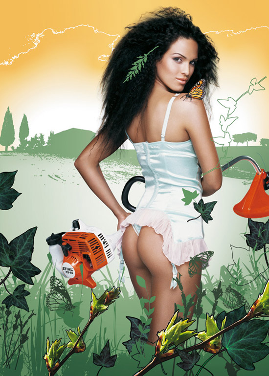 Реклама с порно на садовом