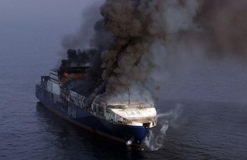 Корабль в огне