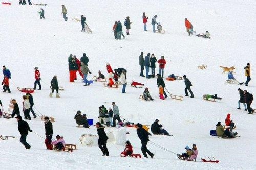 А в Европе снегопад
