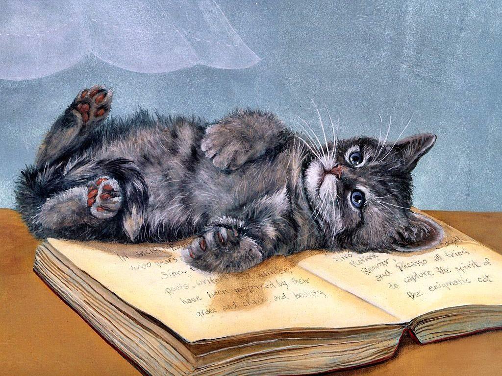 картинки с кошками прикольные нарисованные