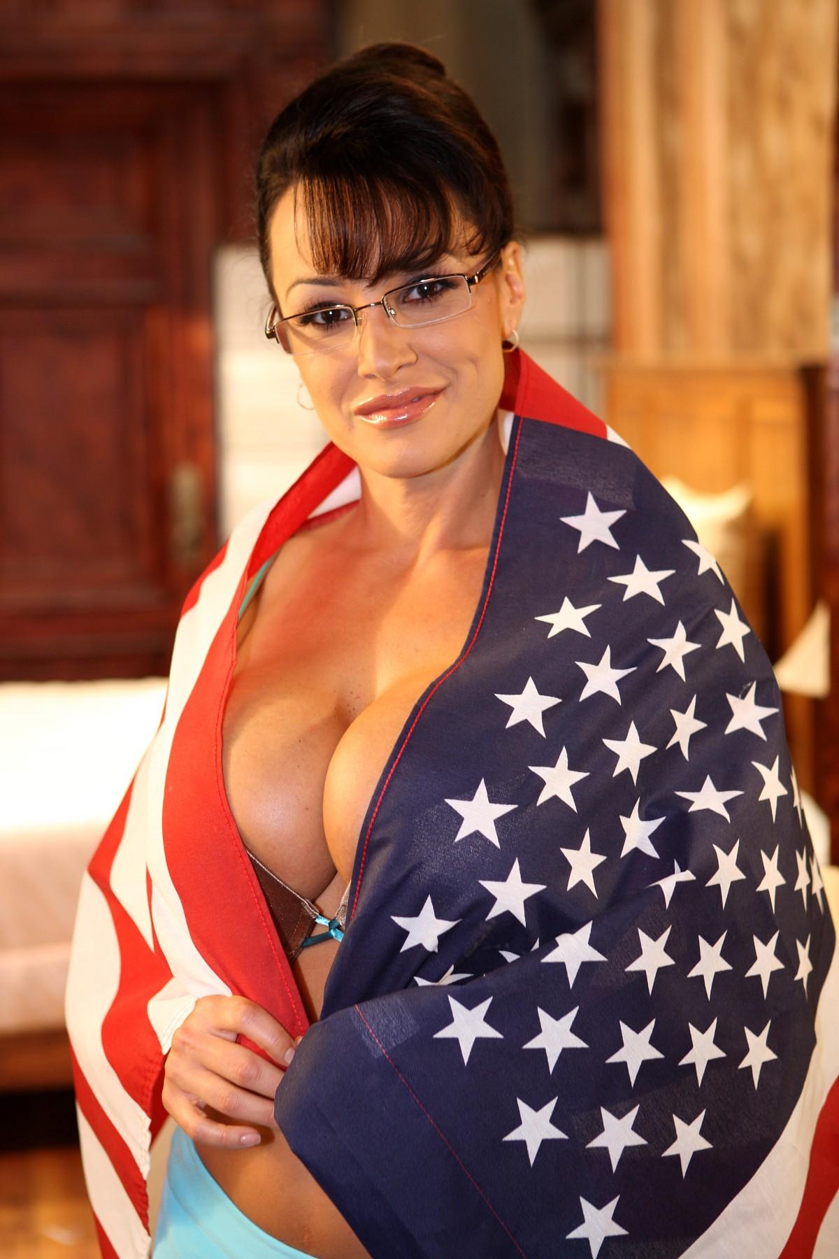 Palin bikini sarah flag