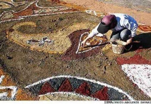 Ковер из песка