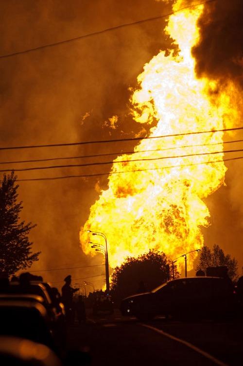 Взрыв газа в Москве