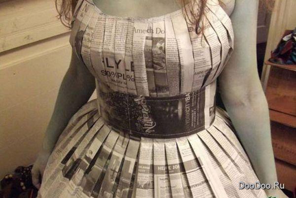 Как сделать костюм из газет своими руками