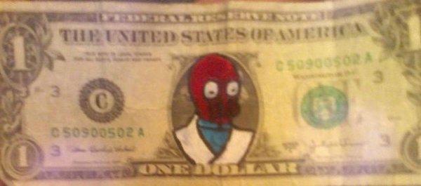 Разрисованные деньги