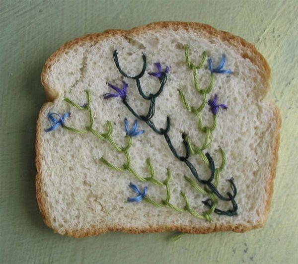 Вышивка по хлебу