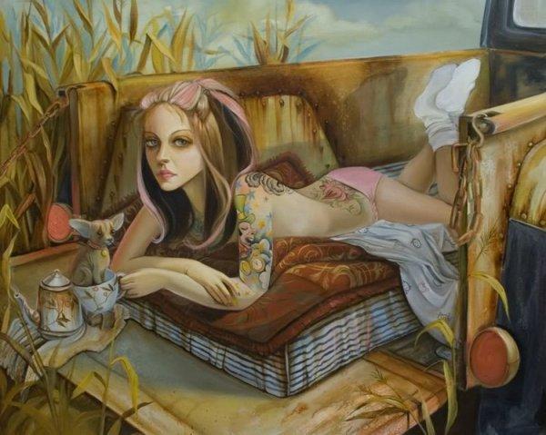 Красочный сюр от Leslie Ditto