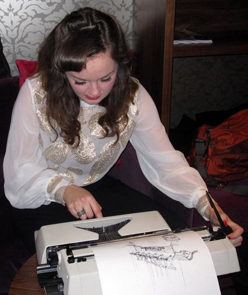 Рисунки на пишущей машинке