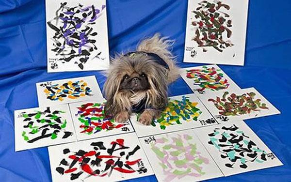 Собака-художник