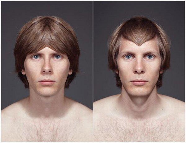 фото симметричное лицо