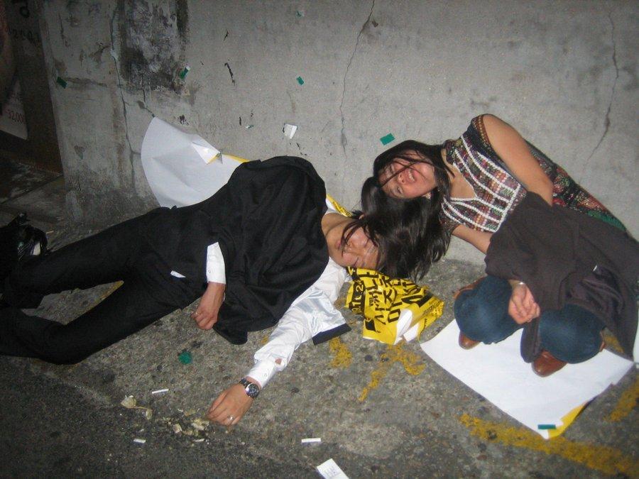 Пьяные женщины на работе