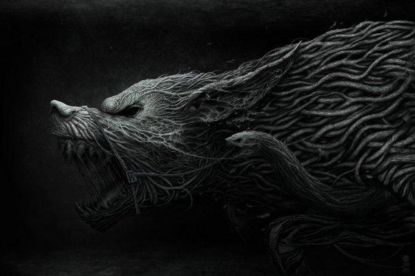 Антон Семенов - мрачные картины