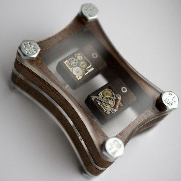 Steampunk-inspired Cufflinks - стимпанк флешки-запонки.
