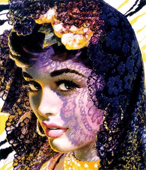 Edwin Georgi - красивые девушки из прошлого