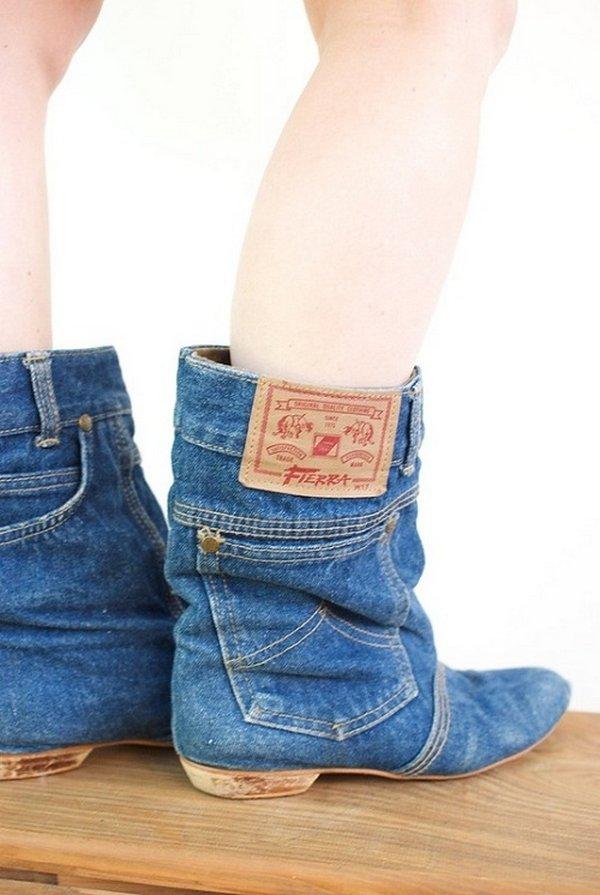 Сапожки из джинсов