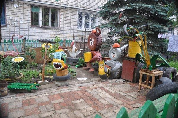 Шинный дворик