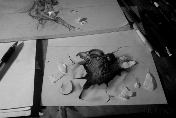 Объемные рисунки Fredo