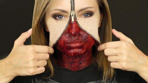 Как сделать зомби на лице