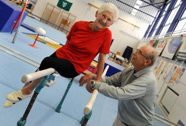Гимнастке йохане кьяс (johanna quaas) 86 лет, однако это не помешало ей принять участие в «турнире мастеров0bb