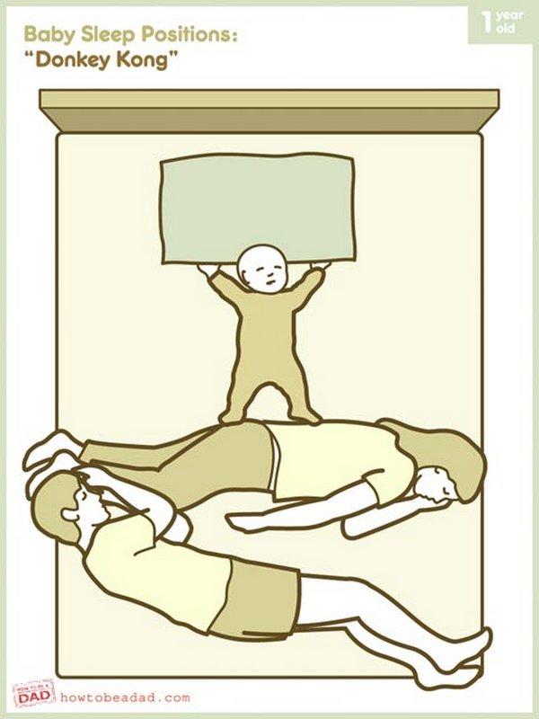 Как спят дети (8 картинок) .