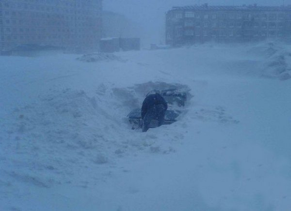 Город под снегом