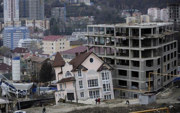 Падающий дом в Сочи
