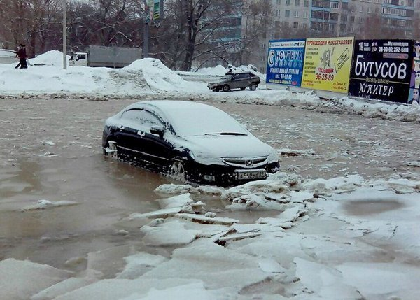 Замерзшие машины