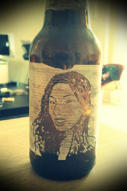 Портрет на бутылке