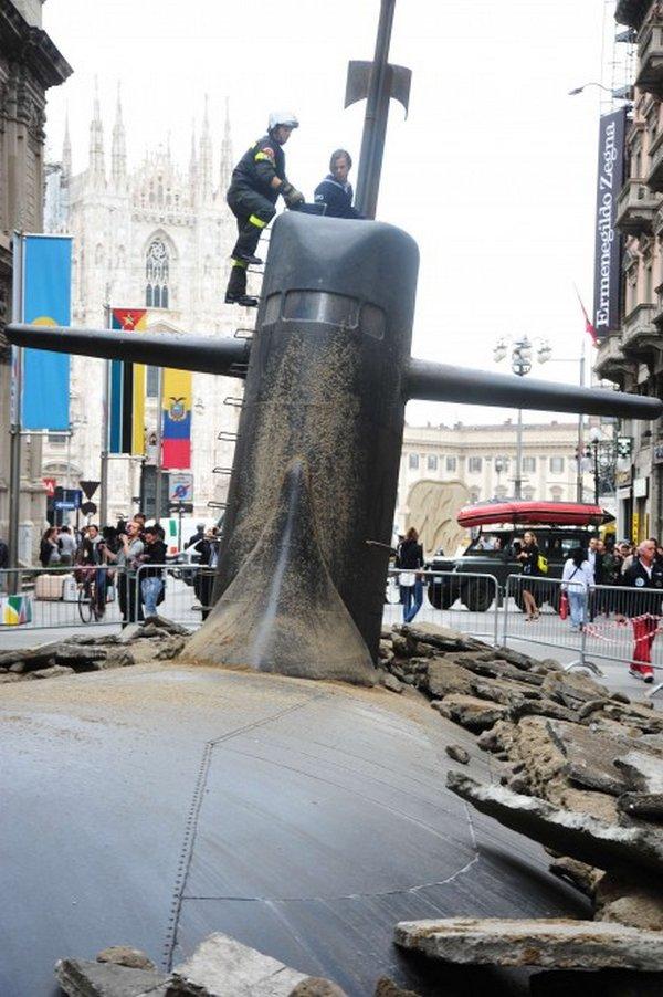 подводная лодка застряла