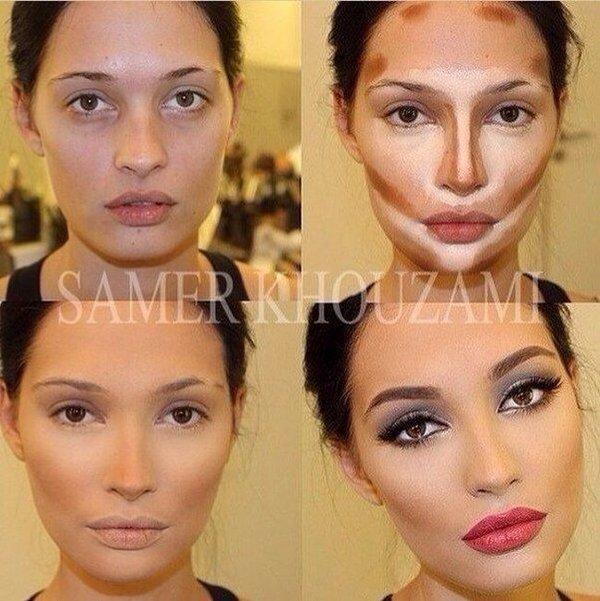 Как сделать лицо худым при помощи косметики